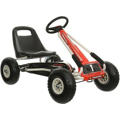 Downforce Go Kart Kids Children Junior Outdoor Pedal Ride On Car Handbrake