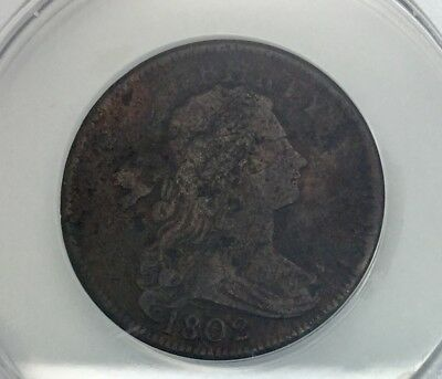 US Large Cent 1802 ANACS  S-241 VF 20 Details