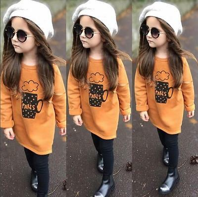 Kid Baby Girls Long Sleeve Shirt Tops+Long Pants Trousers Outfit Clothes Set LOT