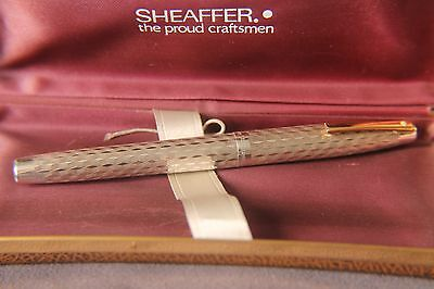 Sheaffer Imperial sterling Silver Fountain Pen - rare silver diamond pattern