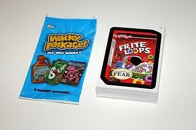 Topps Wacky Packages ANS8 Base Set of 55 Missing 8 Sticker Cards New