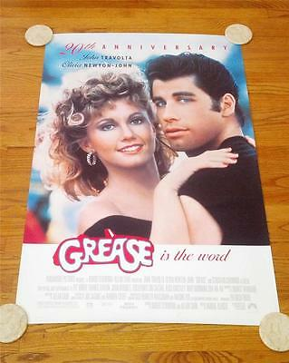Grease 20th Anniversary ('98) Movie Poster One Sheet Travolta Olivia Newton John