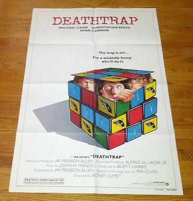 Deathtrap One Sheet Movie Poster 1982 Lumet Christopher Reeve Michael Caine