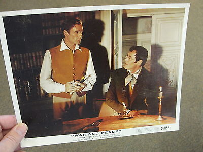 Original 1956 Paramount Pictures War and Peace Lobby Card Vintage Movie