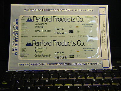 Microscale #48-242 Acf 4 Bay Centerflow Cov. Hoppers, Penford Products