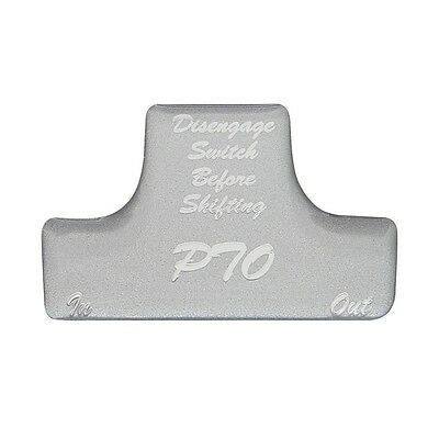 SWITCH GUARD STICKER only PTO silver glossy Freightliner International