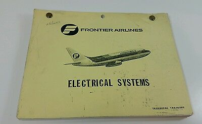 Vtg Original Frontier Airlines Technical Training Manual Electrical Systems 737
