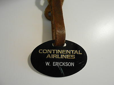 Continental Airlines Pilot Luggage Tag