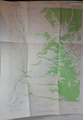 Vtg USGS Topo Map Almont Quad Gunnison Co. Colorado Hunting Fishing 1964