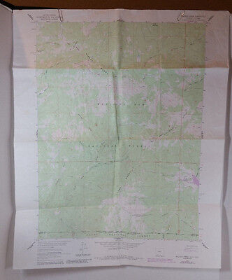 Vtg USGS Topo Map Solomon Creek Wyo Colo Hunting Fishing