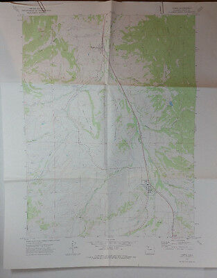 Vtg USGS Topo Map Yampa Quad Colorado Hunting Fishing
