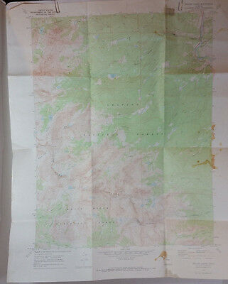 Vtg USGS Topo Map Willow Lakes Quad Colorado Hunting Fishing