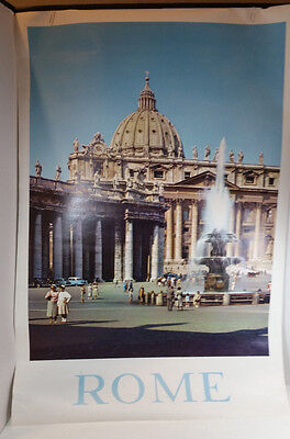 Vintage Brown & Bigelow Authentic Travel Poster Rome Italy