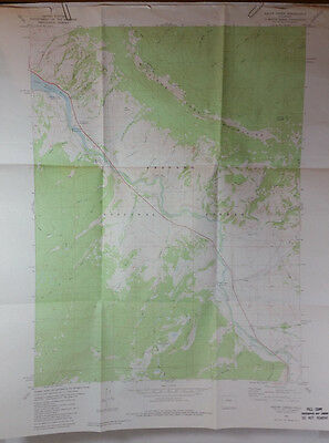 Vintage USGS Topo Map Squaw Creek Quad Colorado Hunting Fishig Camping