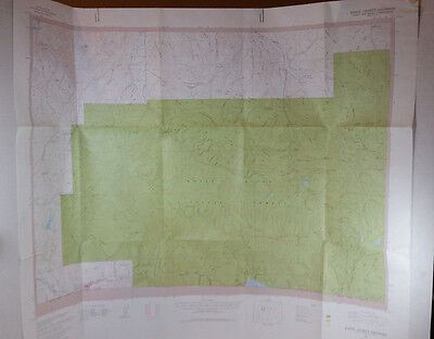 Vintage USGS Topo Map Eagle County Colorado Sheet 3 of 4 Hunting Fishing Hiking