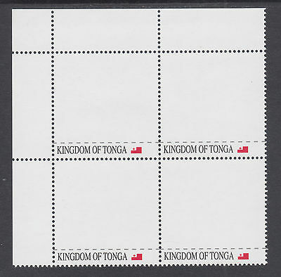 Tonga Sc 1188 MNH. 2012 3pa Personalizable stamp, Sheet Corner Block of 4, VF