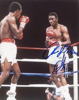 THOMAS HITMAN HEARNS Signed 8x10 Photo JSA Witness JSA