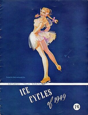 Vintage Ice Skating Cycles Programme 1949 Empress Hall Earls Court