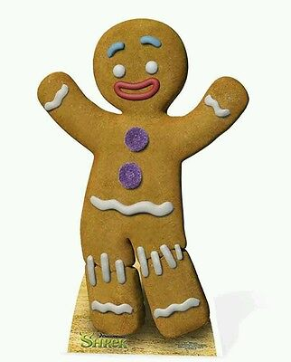 GINGY THE GINGERBREAD MAN from SHREK LIFESIZE CARDBOARD CUTOUT - Dreamworks