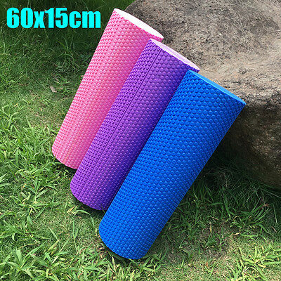 60x15cm EVA Yoga Pilates Massage Fitness Gym Trigger Point Exercise Foam Roller