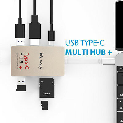 4in1 USB 3.1 Type C to 4k HDMI USB 3.0 HUB USB-C Charger SD Card Reader Adapter