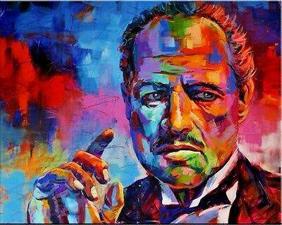 """The Godfather Pop Art  Oil Painting on Canvas wall decor Portrait 24x30"""""""