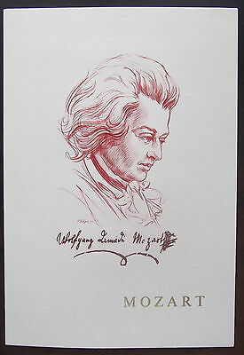 France / Austria - 1991 Mozart issues cancelled FDI on commemorative card.