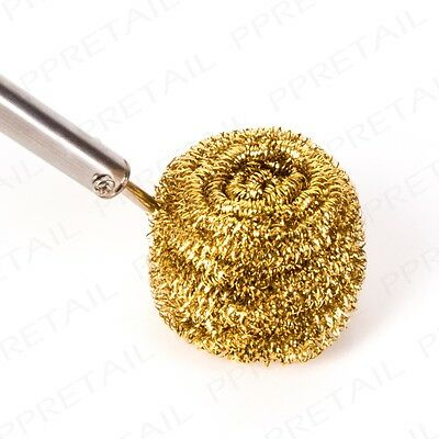 SILVERLINE SOLDERING TIP BALL Tool Nozzle Cleaner Brass Wool Refill Scrubber