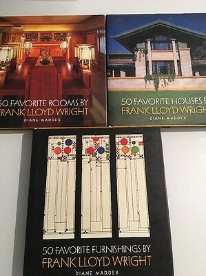 Frank Lloyd Wright / Lot Of 3 Hardcovers - Clean Dustjackets