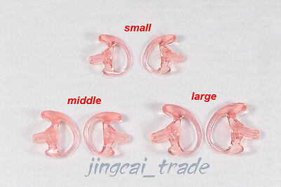 3 Pairs of Pink Silicone Soft Earbud for Covert Acoustic Tube Earpiece of Radio