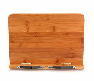 Tosnail Bamboo Wood Book Stand Book Holder Laptop /Ipad/cookbook / Music / Do...