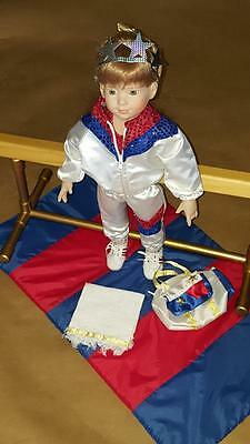 "Magic Attic Club Retired ""Megan"" Doll with Gymnastic Clothing and Accessories"