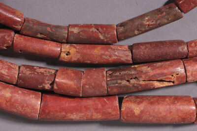 4116 Large Old bauxite Trade beads mauritania