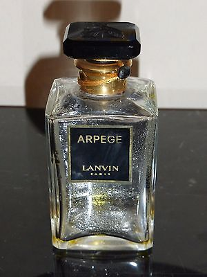 """Vintage Jeanne Lanvin ARPEGE Collectible Perfume Bottle Glass Stopper 4"""" Tall"""