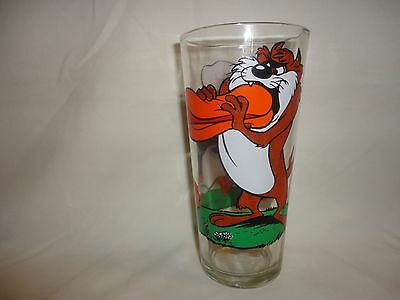 Vintage Taz &  Daffy Pepsi Warner Brothers Collector Glass From 1976