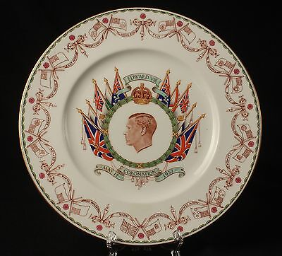 1937 EDWARD VIII Coronation Plate CAULDON England Commemorative