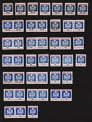 U.S. Collection of Official stamps - 43 Mint, NH, cat. $ 61.45