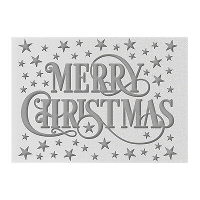 2016 Ultimate Crafts A2 Embossing Folder Merry Christmas Christmas 4.25x5.75in