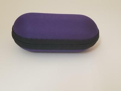 """Lavender 5"""" Padded Pouch Hard Case Protective Smoking Pipe Storage Carry Zipper"""