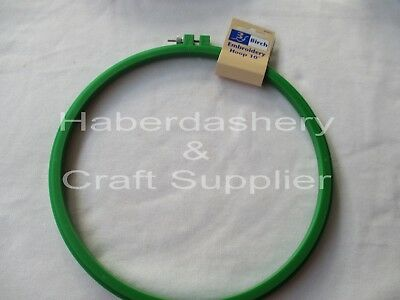 "Embroidery Hoop 10"" Plastic With Screw*green"