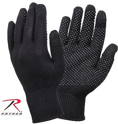 Rothco Black Cell Phone Touch Screen Formfitting Winter Gloves w/ Gripper Dots
