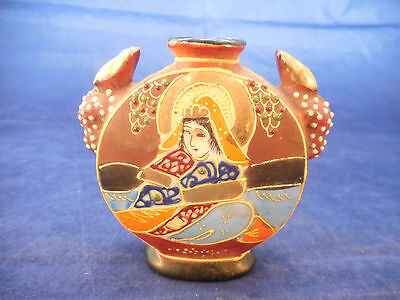 Vintage Made In Japan Woman Vase Moriage 3""