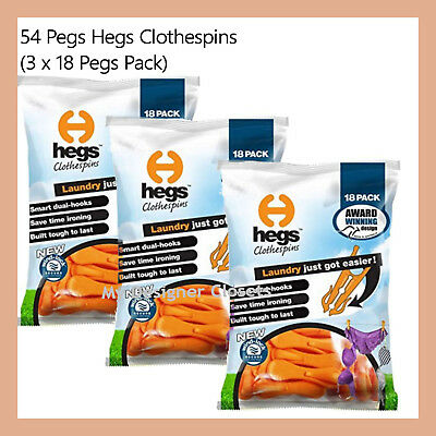54 Pegs Hegs Clothespins Peg Laundry Needs Australian Design Clothes Pin