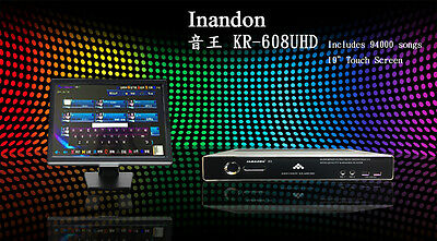 """NEW Inandon HDMI Karaoke Player 4TB 94k 94000 Songs with 19"""" touch screen"""