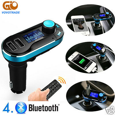 Bluetooth FM Transmitter MP3 Player Car Kit SD USB Charger for iPhone 7 Samsung