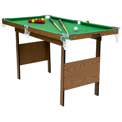 Charles Bentley Kids Junior 2 in 1 4Ft Green Indoor Snooker/ Pool Games Table