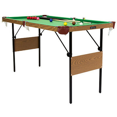 Charles Bentley 2 in 1 4Ft 6 Inch Green Snooker Games Table Including Balls
