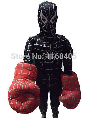 Spiderman costume black with muscle sui