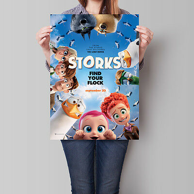 Storks Movie Poster 2016 Find Your Flock Animated Film A2 A3 A4