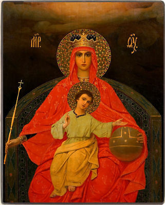 """Russian Orthodox Icons. Mother of God """"Reigning"""". Small."""